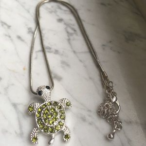 Bedazzled Turtle Necklace